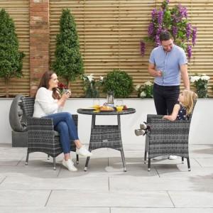 Nova Garden Furniture Amelia 2 Seat Bistro Set with 75cm Round Table