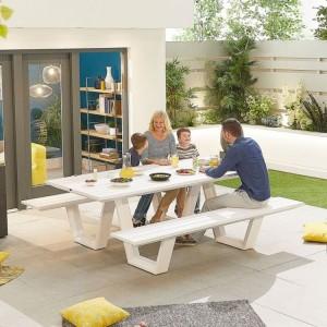 Nova Garden Furniture  Anzio White Aluminium Bench