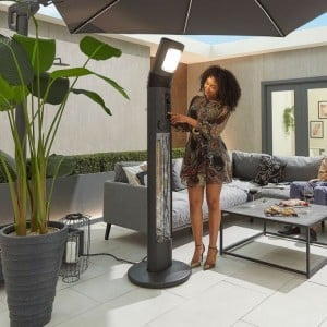 Nova Garden Furniture Helios Black 3kW Free Standing Electric Patio Heater