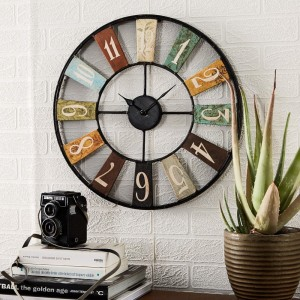 Archie Industrial Style Metal Clock