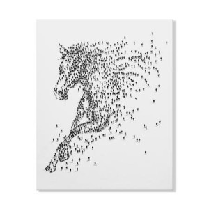 Mose Art Handpainted Galloping Horse Canvas