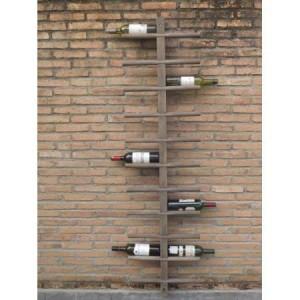 Mango Wood Display Bottle Rack Holds 22 Bottles