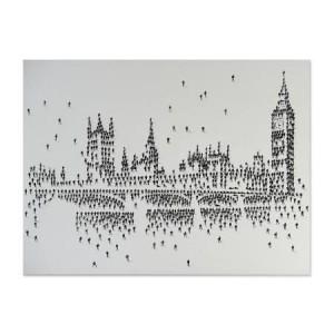 Mose Art Handpainted London Skyline Canvas