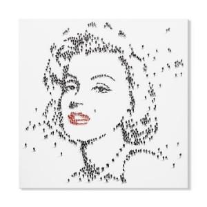 Mose Art Handpainted Marilyn Monroe Canvas
