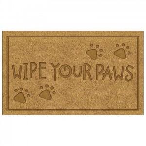 PVC Embossed Wipe Your Paws Door Mat