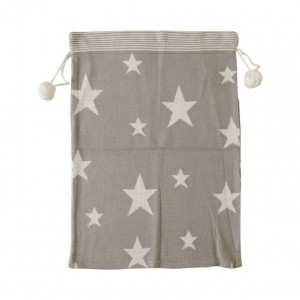 Star Knitted Taupe Sack