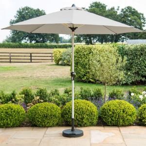 Maze Rattan Garden Round 2.7m Grey Parasol