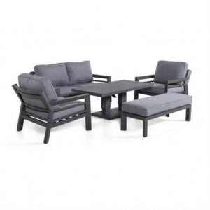 Maze Rattan Garden Furniture New York 2 Seat Sofa Set with Rising Table