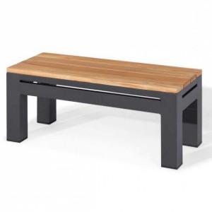 Maze Lounge Outdoor Fabric Oslo Rectangular Teak Top Side Table