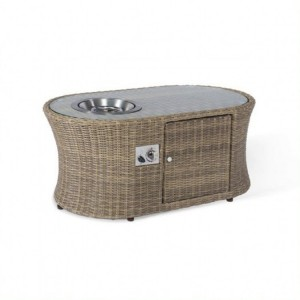 Maze Rattan Garden Furniture Winchester Oval Fire Pit Coffee Table