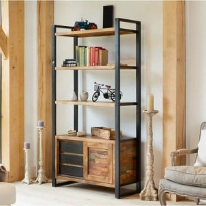 New Urban Chic Furniture Large Bookcase with Storage