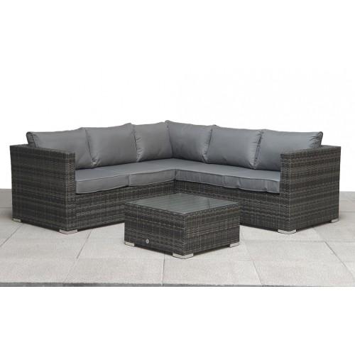Signature Weave Garden Furniture Georgia Grey Compact Corner Lounge Set