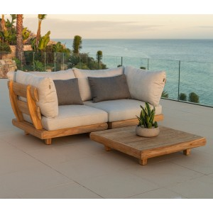 Alexander Rose Garden Furniture Sorrento Corner Module With Coffee Table