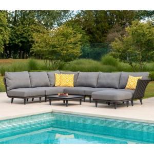 Alexander Rose Garden Furniture Cordial Luxe Dark Grey Module Set