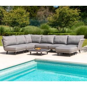 Alexander Rose Garden Furniture Cordial Luxe Light Grey Module Set
