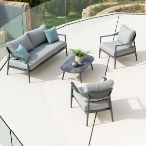 Alexander Rose Garden Furniture Rimini Complete Lounge Set (2)9933 (1)9934 (1)9935