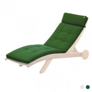 Alexander Rose Garden Furniture Polyester Sun Lounger Cushion Green