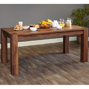 Mayan Walnut Furniture 8 Seater Dining Table - PRE ORDER