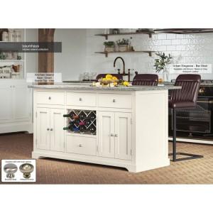 Baumhaus Furniture Cream Kitchen Island With Grey Granite Worktop