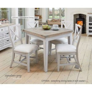 Signature Grey Furniture Square Extending Dining Table & 4 Chair Set
