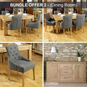 Mobel Oak Furniture Dining Room Package