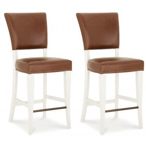 Bentley Designs Belgrave Furniture Tan Upholstered Bar Stool x 2