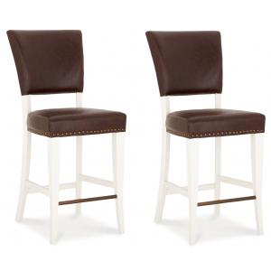 Bentley Designs Belgrave Furniture Espresso Upholstered Bar Stool x 2