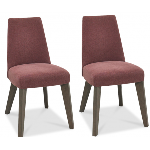 Cadell Oak Furniture Mulberry Upholstered Dining Chair Pair
