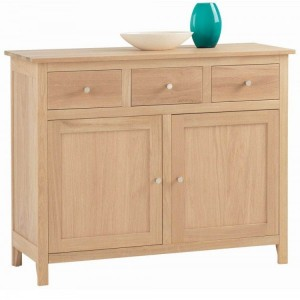 Corndell Nimbus Satin Oak Furniture Large Sideboard