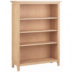 Corndell Nimbus Satin Oak Furniture Medium Bookcase