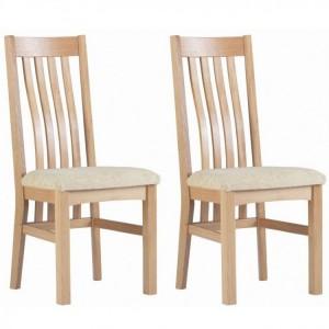 Corndell Nimbus Satin Oak Furniture Slatted Dining Chair (Pair)