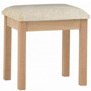 Corndell Nimbus Satin Oak Furniture Dressing Table Stool