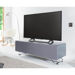 Alphason Furniture Chromium Concept Grey TV Stand with Speaker Mesh Front