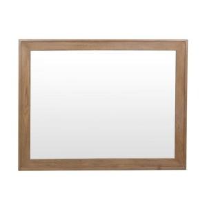 Heritage Smoked Oak Furniture Wall Mirror