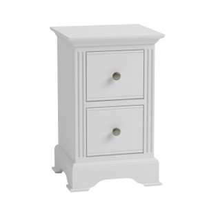 Wembley White Painted Furniture Small Bedside Cabinet