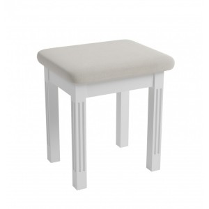 Wembley White Painted Furniture Dressing Table Stool