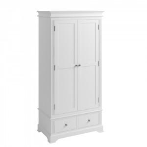 Wembley White Painted Furniture 2 Door Wardrobe