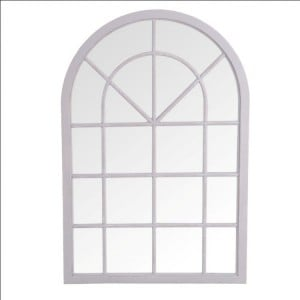 Florence Furniture Grey Small Arched Window Mirror