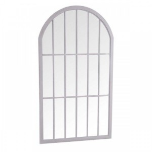 Florence Furniture Grey Large Arched Window Mirror