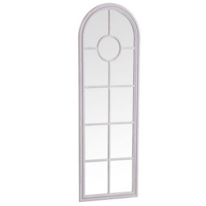 Florence Furniture Grey Narrow Arched Window Mirror