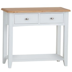 Galaxy White Painted Furniture 2 Drawer Console Table