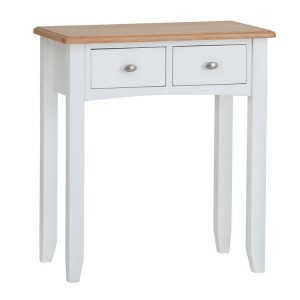 Galaxy White Painted Furniture 2 Drawer Dressing Table