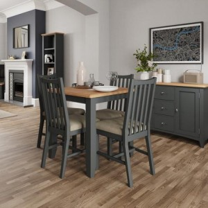 Galaxy Grey Painted Furniture Fixed Top Dining Table