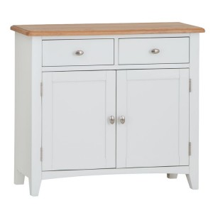 Galaxy White Painted Furniture 2 Door 2 Drawer Medium Sideboard