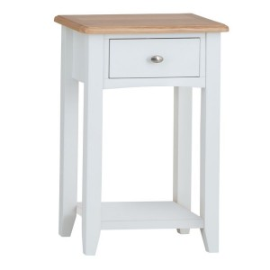 Galaxy White Painted Furniture Telephone Table with Drawer
