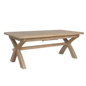 Heritage Smoked Oak Furniture Large Extending Cross Leg Dining Table