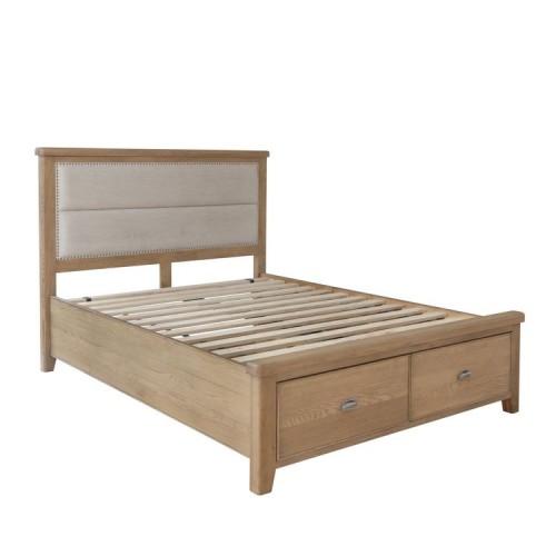 Heritage Smoked Oak Furniture 5ft King Size Bed Frame