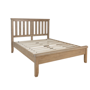 Heritage Smoked Oak Furniture 5ft King Size Bed with Low End Footboard