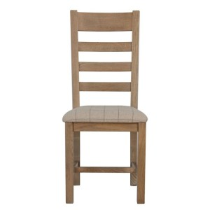Heritage Smoked Oak Furniture Natural Ladder Back Dining Chair (Pair)