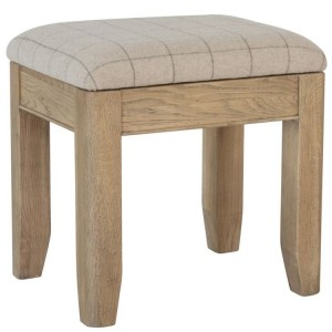 Heritage Smoked Oak Furniture Dressing Table Stool